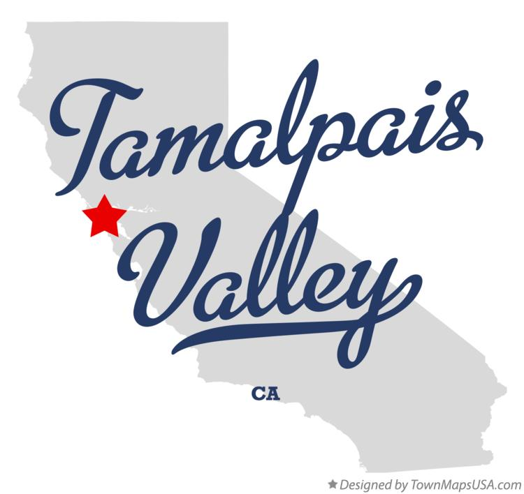 Map of Tamalpais Valley California CA