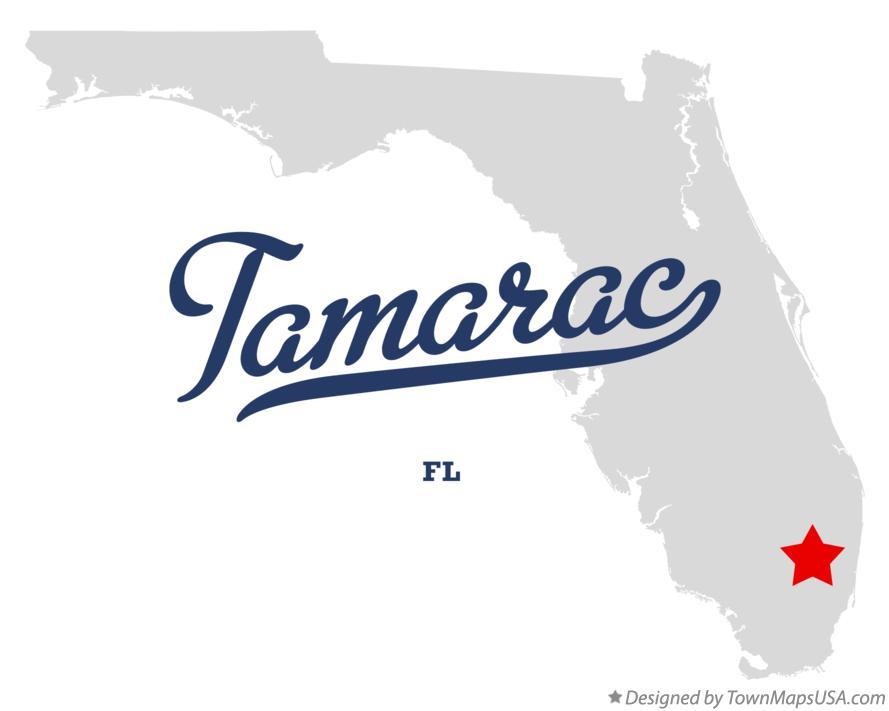 Map of Tamarac Florida FL