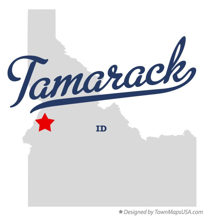 Map of Tamarack Idaho ID