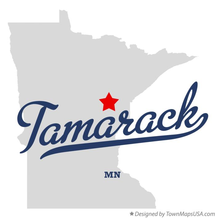 Map of Tamarack Minnesota MN