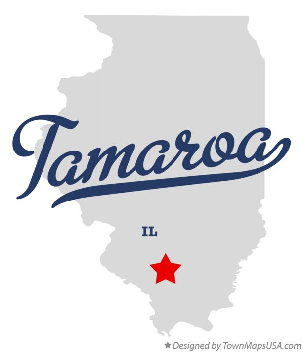 Map of Tamaroa Illinois IL