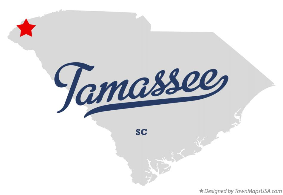 Map of Tamassee South Carolina SC