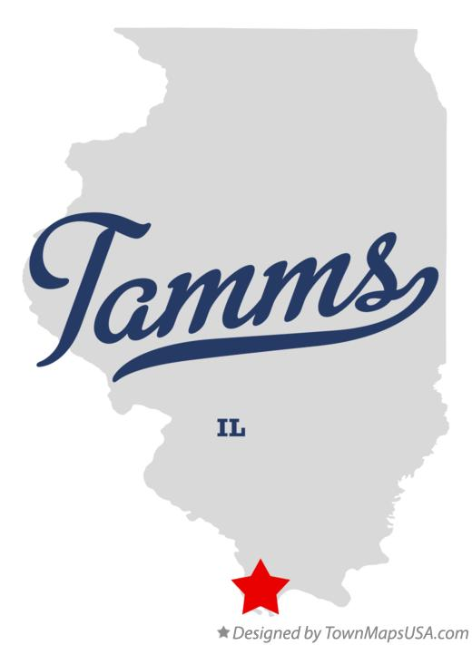 Map of Tamms Illinois IL