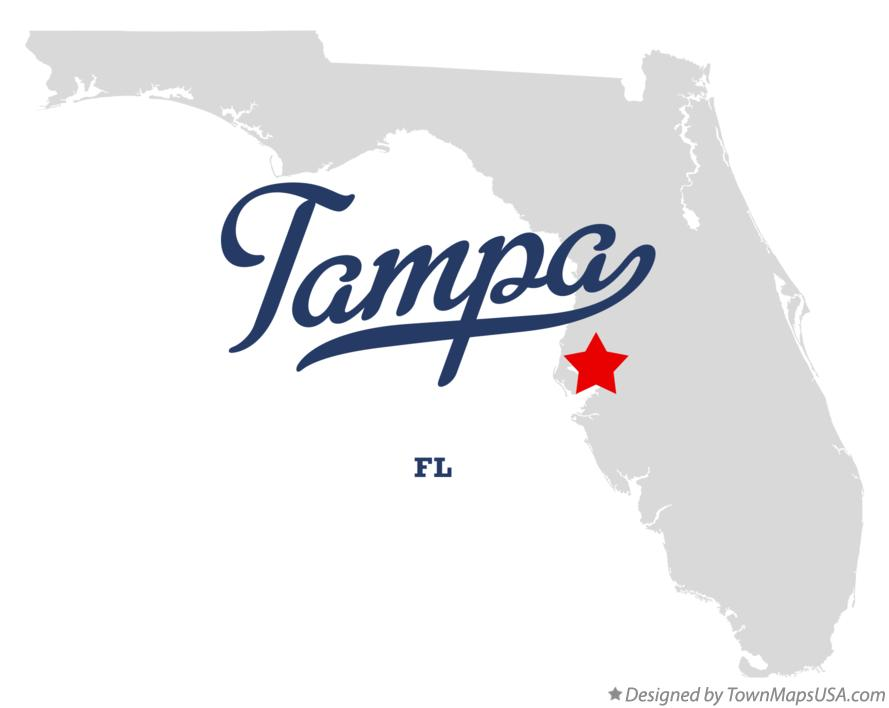 florida map of tampa