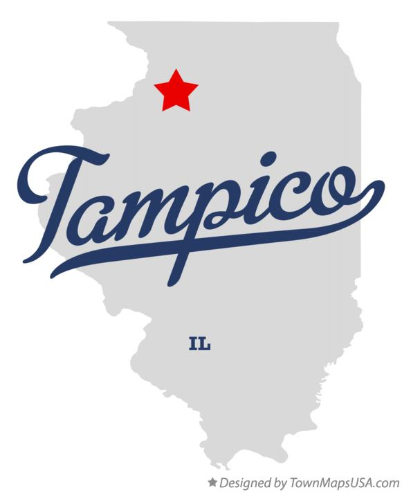 Map of Tampico Illinois IL