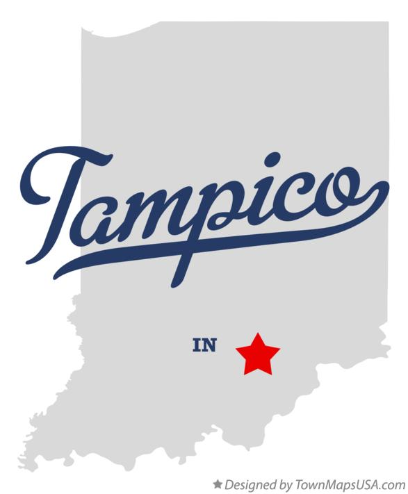 Map of Tampico Indiana IN