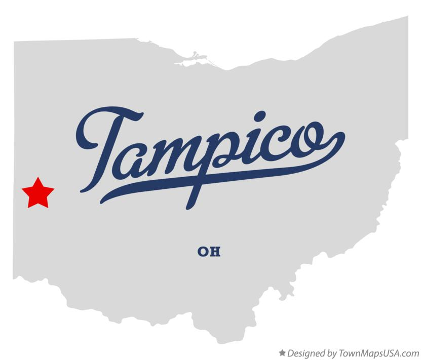 Map of Tampico Ohio OH