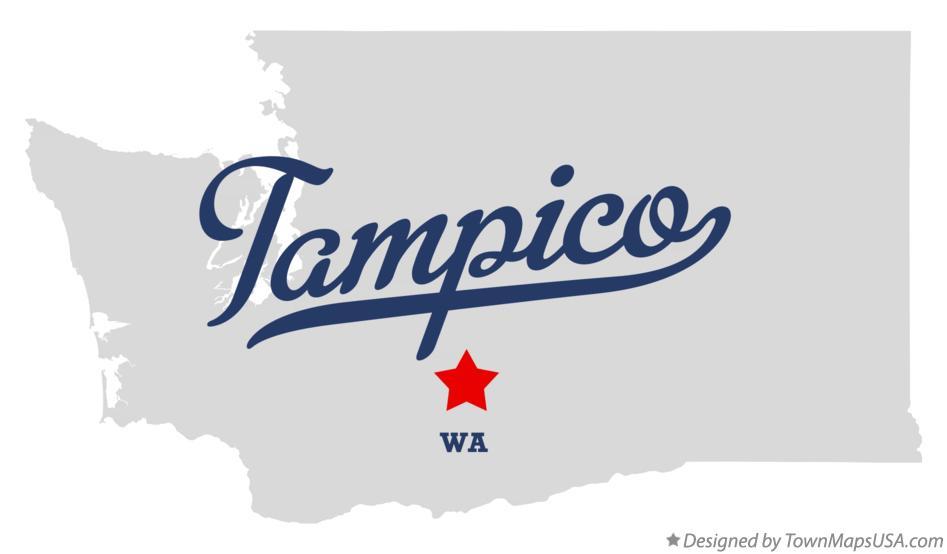 Map of Tampico WA Washington