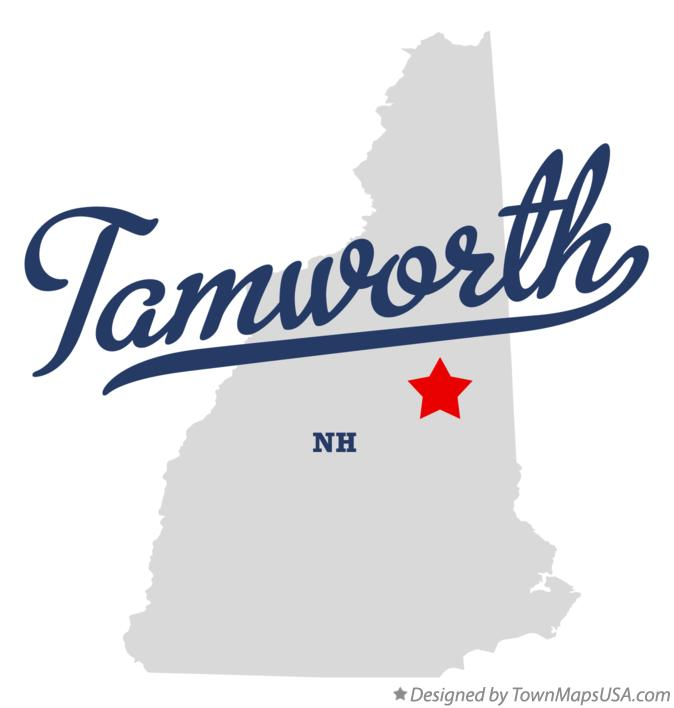 Map of Tamworth New Hampshire NH