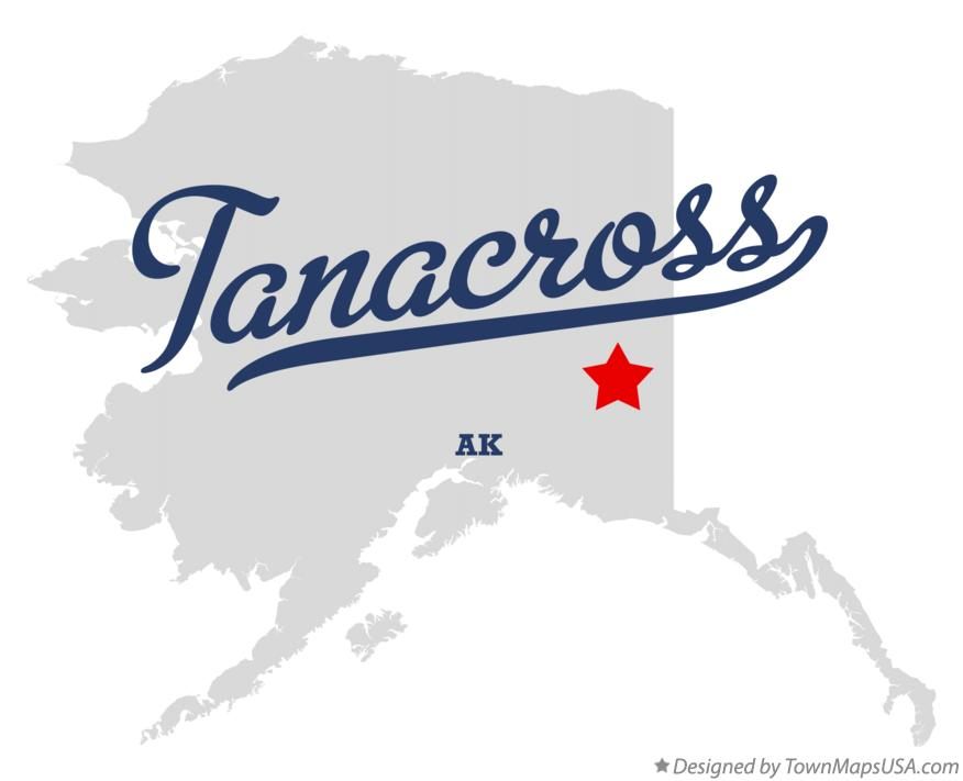 Map of Tanacross Alaska AK