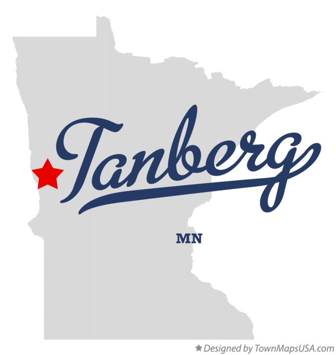 Map of Tanberg Minnesota MN