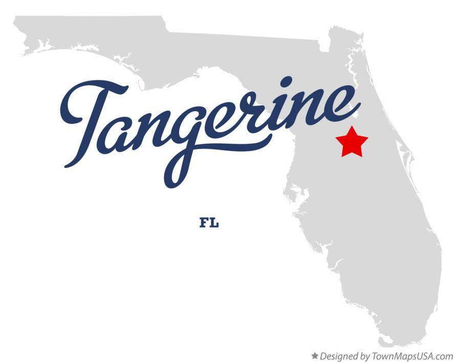 Map of Tangerine, FL, Florida