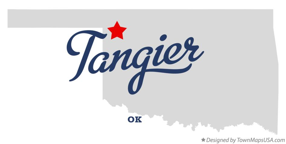 Map of Tangier Oklahoma OK