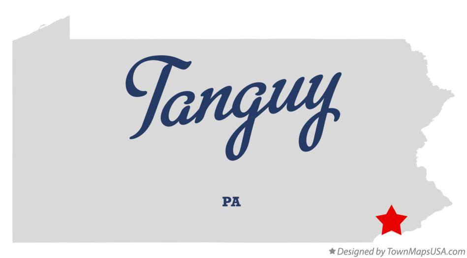 Map of Tanguy Pennsylvania PA