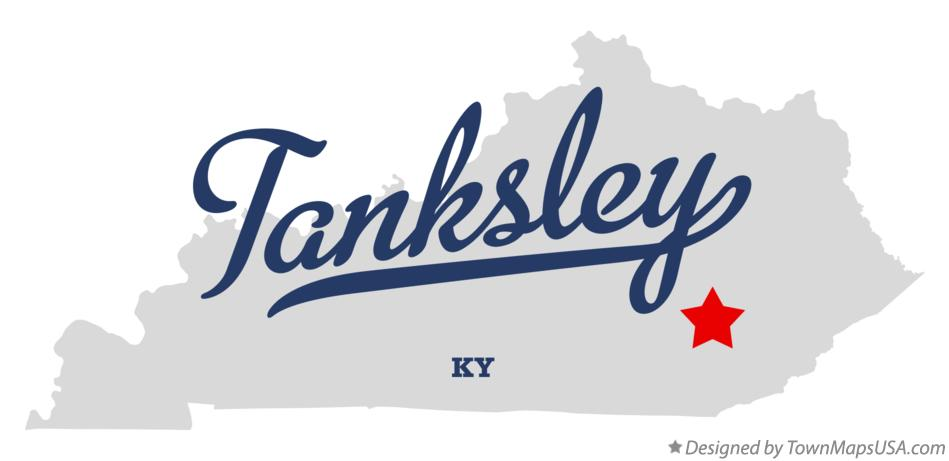 Map of Tanksley Kentucky KY