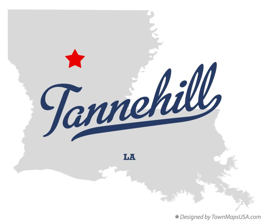 Map of Tannehill Louisiana LA