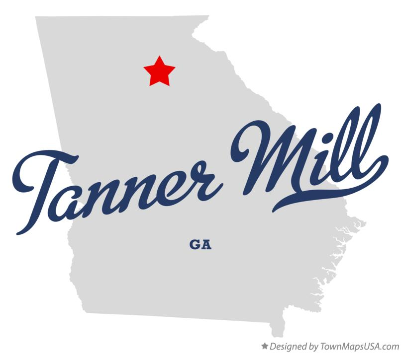 Map of Tanner Mill Georgia GA