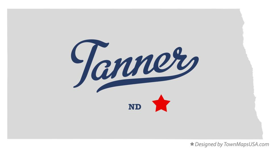 Map of Tanner North Dakota ND
