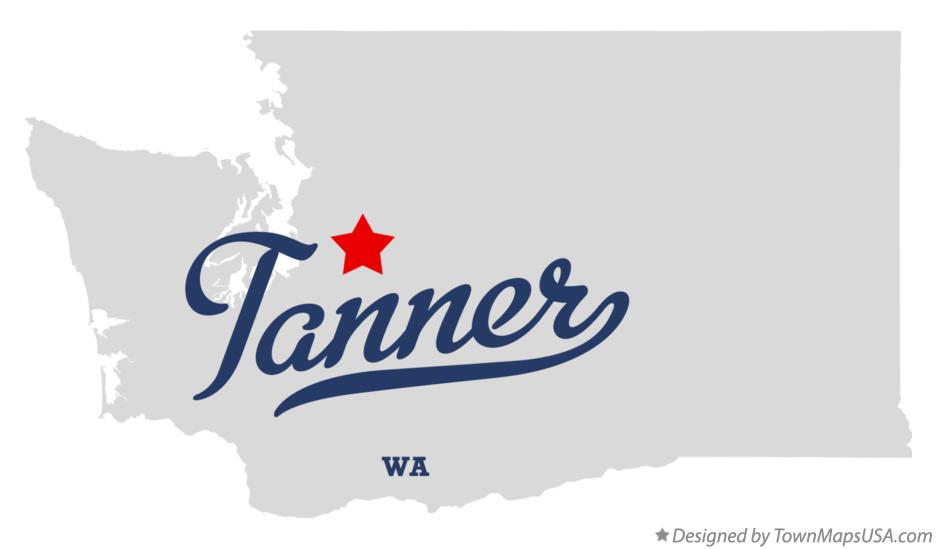 Map of Tanner Washington WA