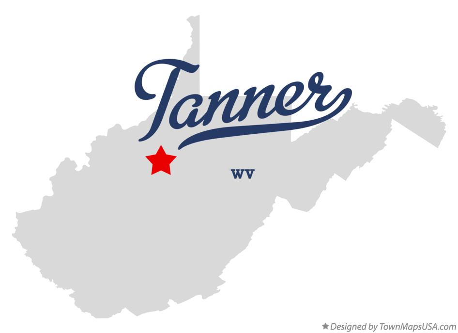 Map of Tanner West Virginia WV