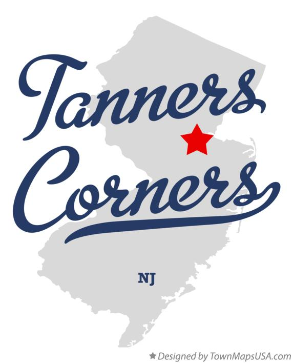Map of Tanners Corners New Jersey NJ
