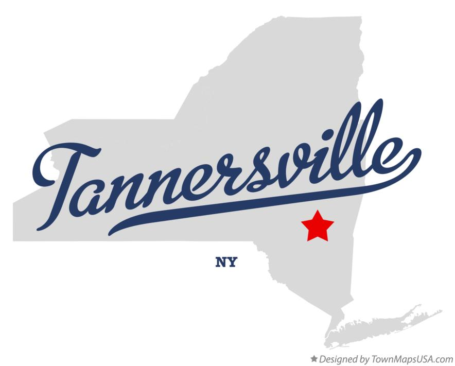 Map of Tannersville New York NY