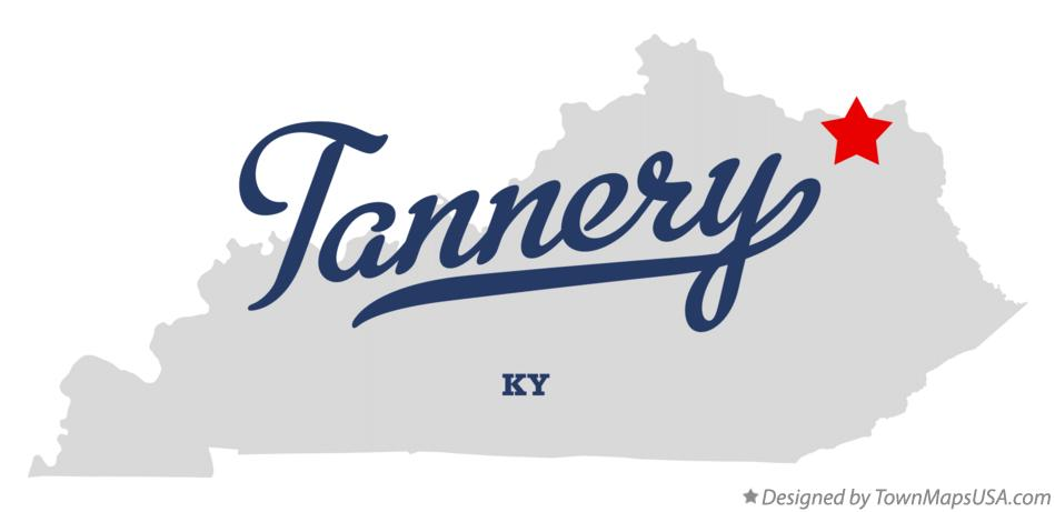 Map of Tannery Kentucky KY