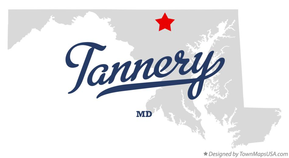 Map of Tannery Maryland MD
