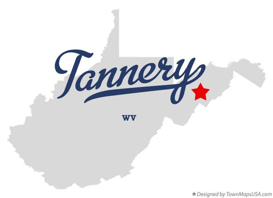 Map of Tannery West Virginia WV