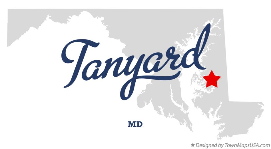 Map of Tanyard Maryland MD