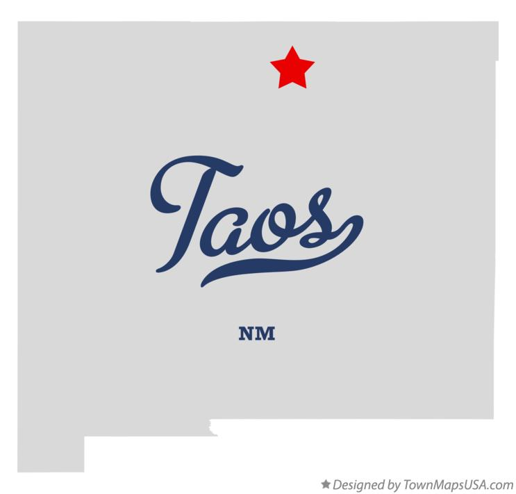 Map of Taos New Mexico NM