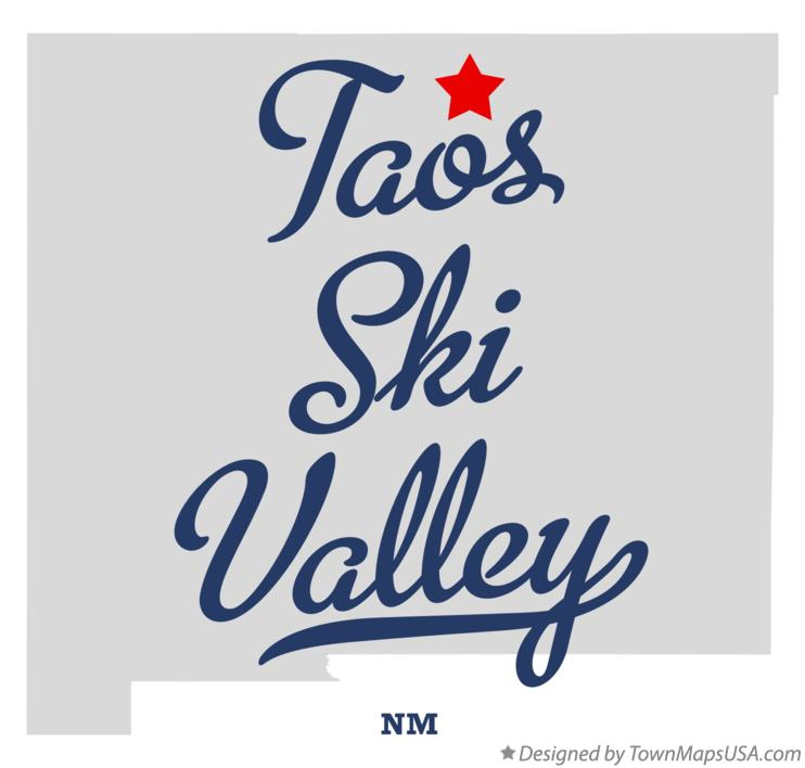 Map of Taos Ski Valley New Mexico NM