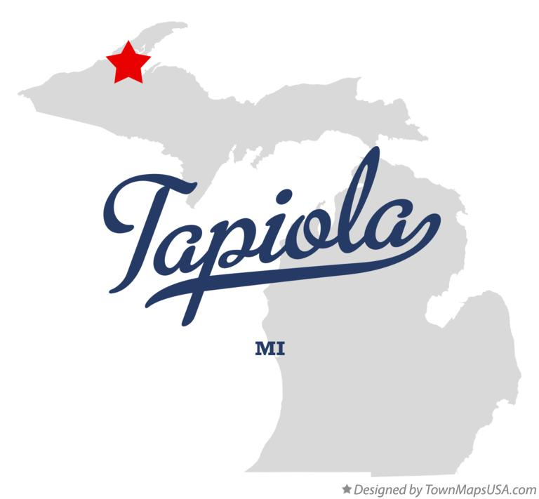 Map of Tapiola Michigan MI