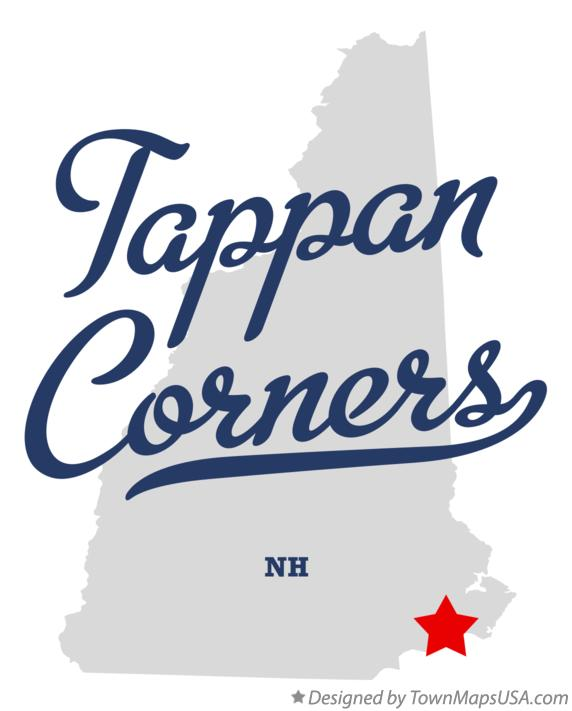 Map of Tappan Corners New Hampshire NH