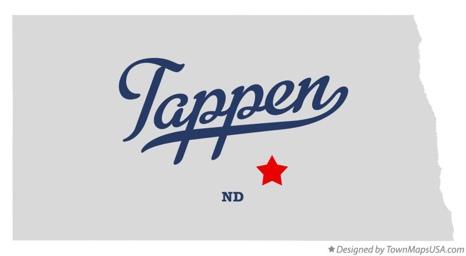 Map of Tappen North Dakota ND