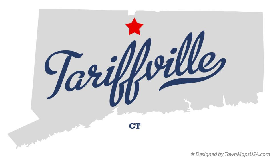 Map of Tariffville Connecticut CT
