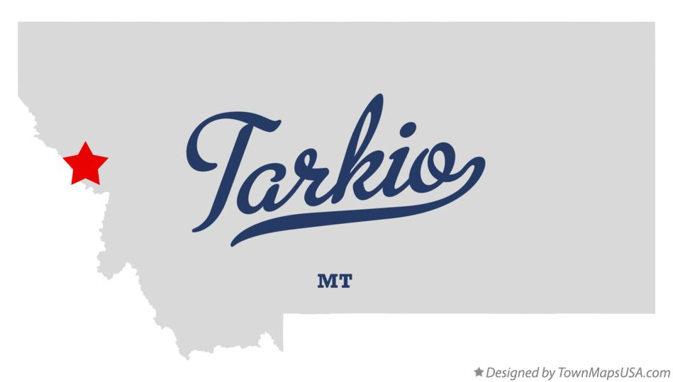 Map of Tarkio Montana MT