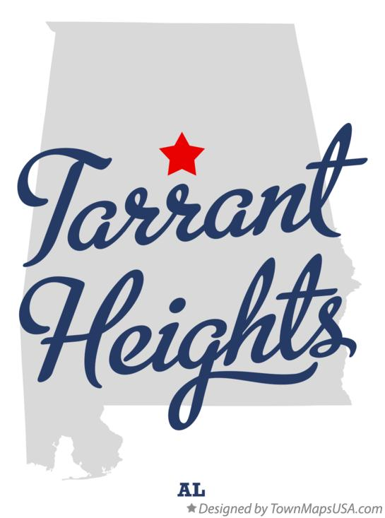 Map of Tarrant Heights Alabama AL