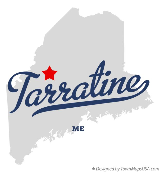 Map of Tarratine Maine ME