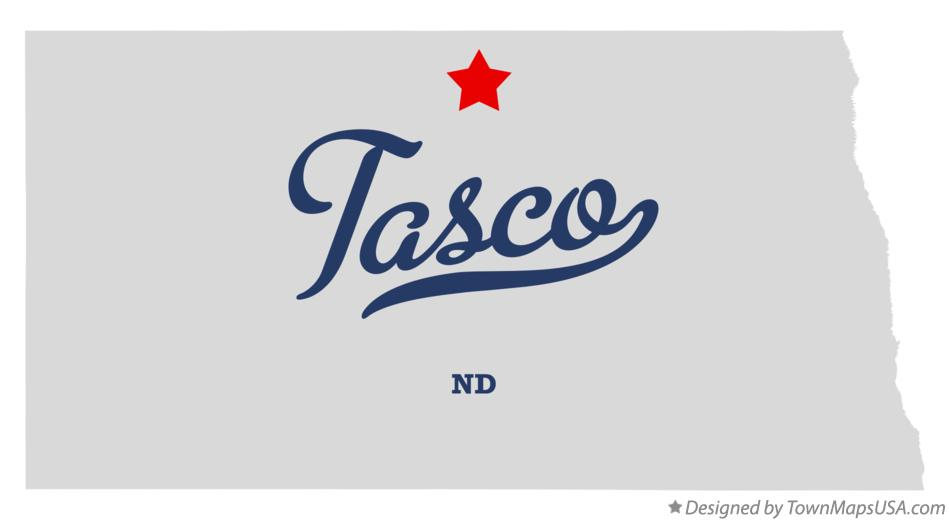 Map of Tasco North Dakota ND