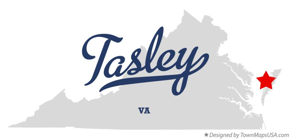 Map of Tasley Virginia VA