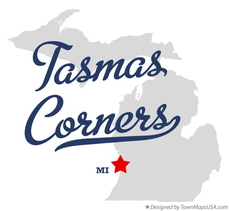 Map of Tasmas Corners Michigan MI