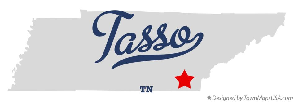 Map of Tasso Tennessee TN