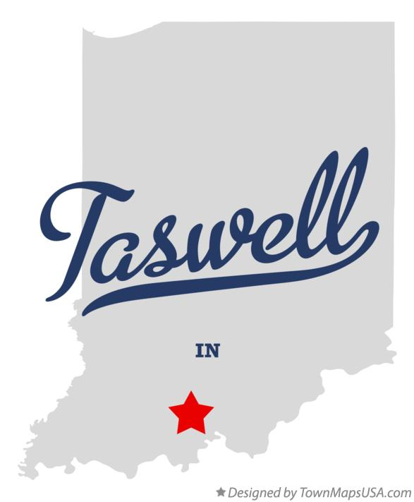 Map of Taswell Indiana IN