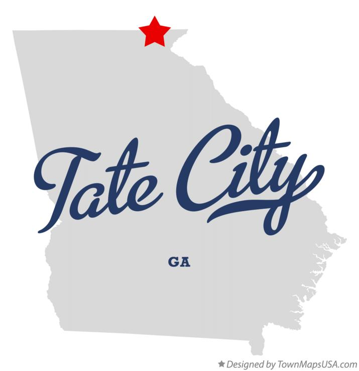 Map of Tate City Georgia GA