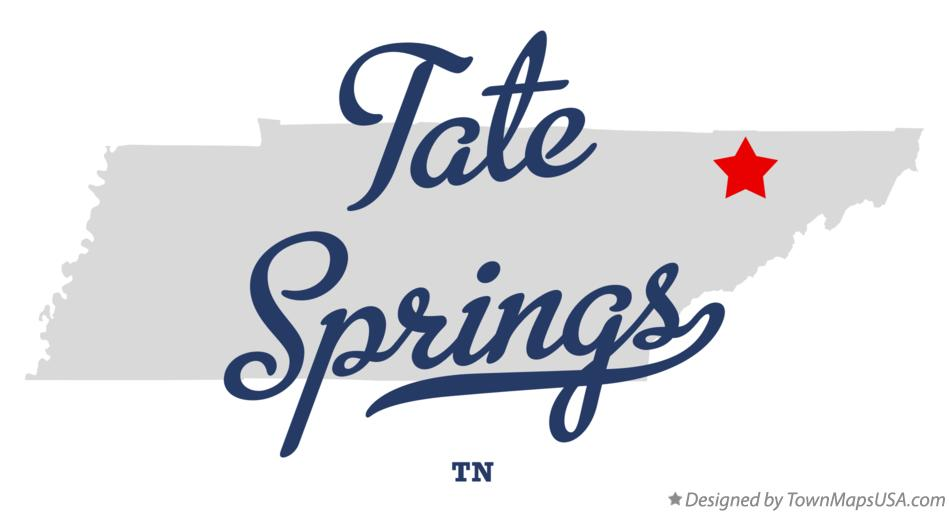 Map of Tate Springs Tennessee TN