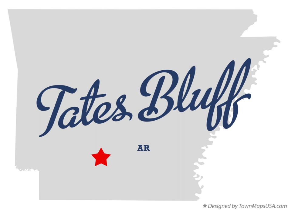 Map of Tates Bluff Arkansas AR
