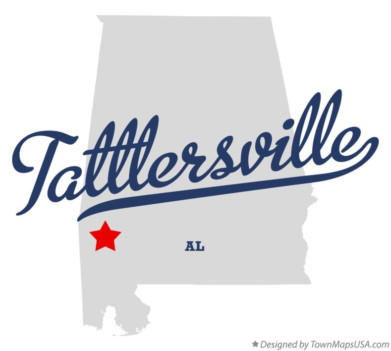 Map of Tattlersville Alabama AL
