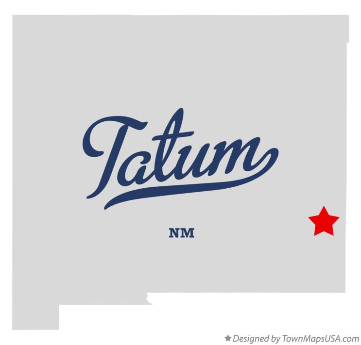 Map of Tatum New Mexico NM