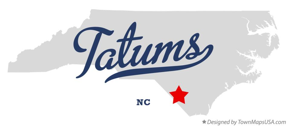 Map of Tatums North Carolina NC